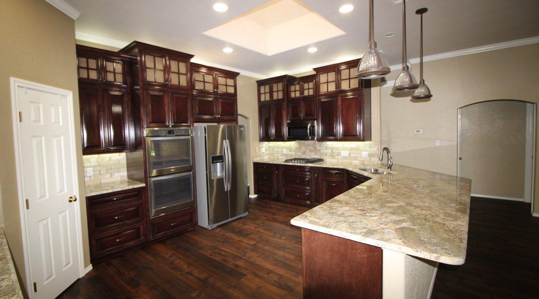 remodeled brown kitchen